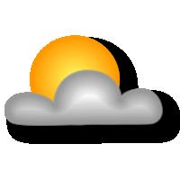 Irregolarmente nuvoloso con schiarite