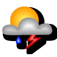 Irregolarmente nuvoloso per attività cumuliforme